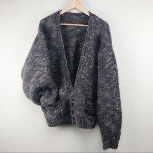 Chunky Oversized Knitted Grandpa Sweater